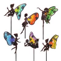 Exhart Glass Wing Fairy Plant Pick Assortment from Blain's Farm and Fleet