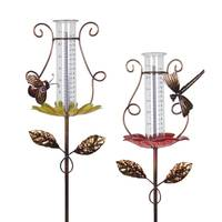 Exhart Butterfly Dragon Rain Gauge Garden Stake from Blain's Farm and Fleet