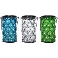 Exhart Cylinder Shaped Solar Glass Lantern from Blain's Farm and Fleet