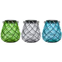 Exhart Round Shaped Solar Glass Lantern from Blain's Farm and Fleet