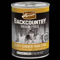 Merrick 12.7 oz Backcountry Grain Free Hearty Chicken Thigh Stew from Blain's Farm and Fleet