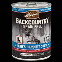 Merrick 12.7 oz Beef Backcountry Grain Free Hero's Banquet Stew from Blain's Farm and Fleet