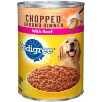 Pedigree 22 oz Chopped Ground Dinner Beef Dog Food from Blain's Farm and Fleet