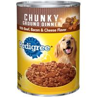 Pedigree 22 oz Chopped Ground Dinner Chunky Beef, Bacon, & Cheese Dog Food from Blain's Farm and Fleet