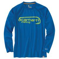 Carhartt Force Men's Federal Blue Long Sleeve Hook Tee from Blain's Farm and Fleet