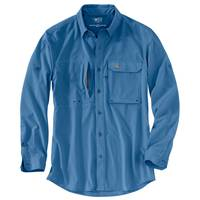 Carhartt Force Men's Blue Long Sleeve Angler Shirt from Blain's Farm and Fleet