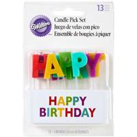Wilton Happy Birthday Candle Pick Set from Blain's Farm and Fleet