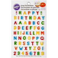 Wilton Letters & Numbers Edible Icing Decorations from Blain's Farm and Fleet