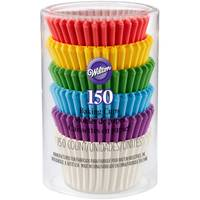 Wilton Rainbow Mini Cupcake Liners - 150 Count from Blain's Farm and Fleet