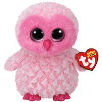 Ty Beanie Boo Medium Twiggy the Pink Owl from Blain's Farm and Fleet