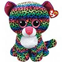 Ty Beanie Boo Large Dot The Rainbow Leopard from Blain's Farm and Fleet
