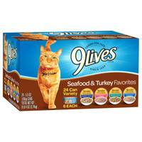9 Lives Turkey Favorites Canned Cat Food - 24 Pack from Blain's Farm and Fleet