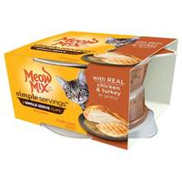 Meow Mix 1.3 oz Simple Servings Chicken & Turkey Cat Food 2-Pack from Blain's Farm and Fleet