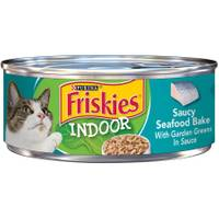 Friskies Indoor In Sauce Saucy Seafood Bake With Garden Greens from Blain's Farm and Fleet