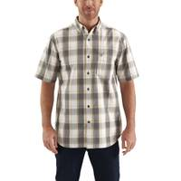 Carhartt Men's Essential Plaid Short Sleeve Button Down Shirt from Blain's Farm and Fleet