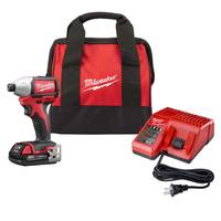 Milwaukee M18 Compact Brushless Impact Kit with Battery from Blain's Farm and Fleet