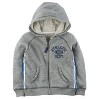 Carters Toddler Boys' Grey Full Zip Hoodie from Blain's Farm and Fleet
