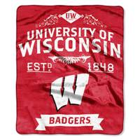 The Northwest Company Wisconsin Badgers Raschel Throw Blanket from Blain's Farm and Fleet