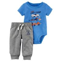 Carter's Baby Boys' 2-Piece Bodysuit Pant Set from Blain's Farm and Fleet