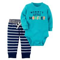 Carter's Infant Boy's Turquoise & Blue 2-Piece Bodysuit & Pants Set from Blain's Farm and Fleet