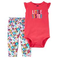 Carter's Baby Girls' Little Sister 2 Piece Clothing Set from Blain's Farm and Fleet