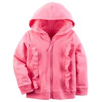 Carter's Toddler Girls' Zip-Up French Terry Hoodie from Blain's Farm and Fleet