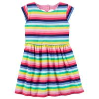 Carter's Short Sleeve Striped Dress Pink & Blue from Blain's Farm and Fleet