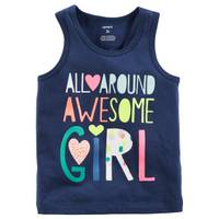 Carter's Awesome Girls' Tank Top Navy from Blain's Farm and Fleet