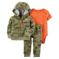 Carter's Infant Boy's Olive Green & Orange 3-Piece Little Jacket Set from Blain's Farm and Fleet