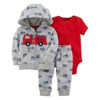 Carter's Infant Boy's Red & Gray 3-Piece Little Jacket Set from Blain's Farm and Fleet