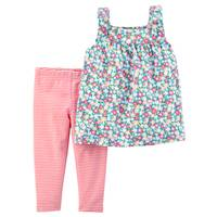 Carter's Little Girls' 2-Piece Pant Set Pink & White from Blain's Farm and Fleet