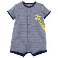Carter's Infant Boy's Navy Snap-Up Cotton Romper from Blain's Farm and Fleet