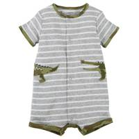 Carter's Infant Boy's Heather Snap-Up Cotton Romper from Blain's Farm and Fleet