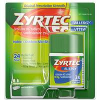 Zyrtec 24 Hour Allergy Relief Tablets from Blain's Farm and Fleet