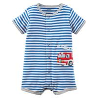 Carter's Little Boys' Romper Firetruck Blue & White from Blain's Farm and Fleet