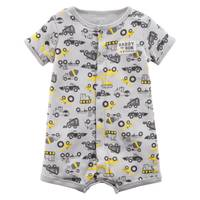 Carter's Little Boys' Romper Truck Grey from Blain's Farm and Fleet