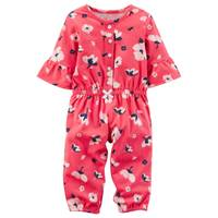 Carter's Infant Girl's Red Floral Jumpsuit from Blain's Farm and Fleet