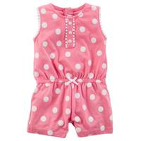 Carter's Infant Girl's Pink Polka Dot Romper from Blain's Farm and Fleet