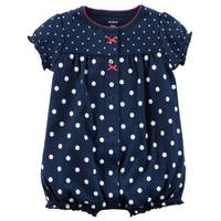 Carter's Little Girls' Romper Dot Navy from Blain's Farm and Fleet