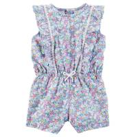 Carter's Infant Girl's Blue Floral Romper from Blain's Farm and Fleet