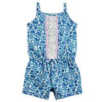 Carter's Little Girls' Sleeveless Romper Floral Navy from Blain's Farm and Fleet