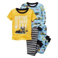 Carter's Toddler Boys' 4-Piece Snug Fit Cotton Pajamas from Blain's Farm and Fleet