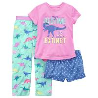 Carter's Little Girls' 3-Piece Polyester Sleepwear Pink & White from Blain's Farm and Fleet