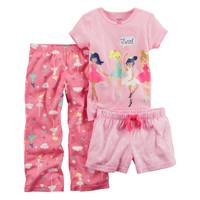 Carter's Toddler Girls' 3-Piece Polyester Sleepwear Pink & White from Blain's Farm and Fleet