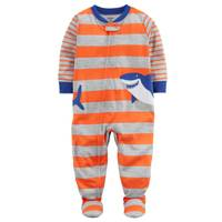 Carter's Little Boys' 1-Piece Polyester Sleepwear Shark Orange & Grey from Blain's Farm and Fleet