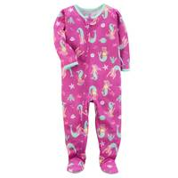 Carter's Little Girls' 1-Piece Polyester Sleepwear Mermaid Pink from Blain's Farm and Fleet