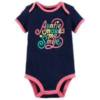Carter's Little Girls' Short Sleeve Slogan Auntie Navy from Blain's Farm and Fleet