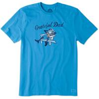 Life Is Good Men's Blue Short Sleeve Adirondack Dad Tee Shirt from Blain's Farm and Fleet