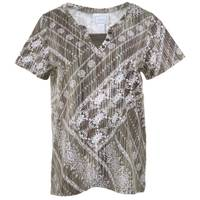 CG | CG Women's Etta Print Y-Neck Short Sleeve Top from Blain's Farm and Fleet