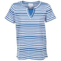 CG | CG Women's Striped Short Sleeve Y-Neck Etta Top from Blain's Farm and Fleet